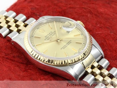 ROLEX DATEJUST ACIER / OR AUTOMATIQUE KAL. 3135 [140052]