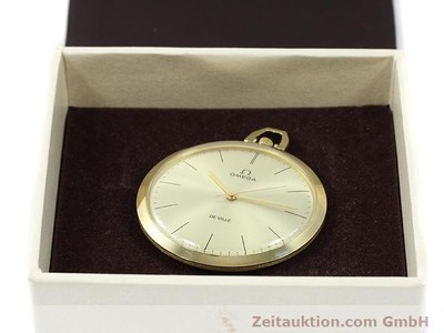 OMEGA TASCHENUHR 14 CT YELLOW GOLD MANUAL WINDING KAL. 601 [140117]