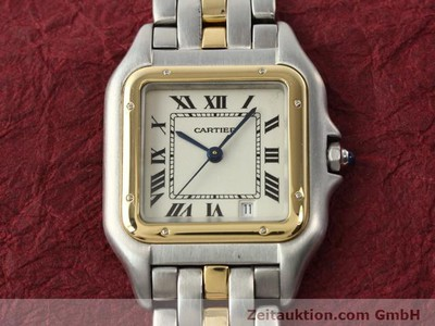 CARTIER PANTHERE STEEL / GOLD QUARTZ KAL. 2.89 [140243]