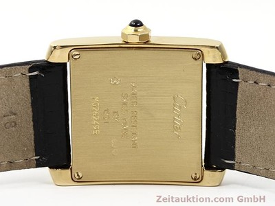 CARTIER TANK 18 CT GOLD QUARTZ KAL. 157.06 [140268]