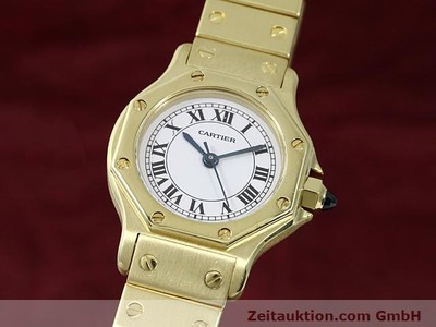 CARTIER SANTOS OR 18 CT AUTOMATIQUE KAL. ETA 2671 [140281]