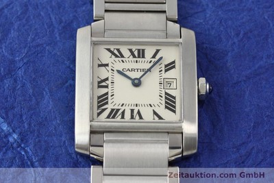 CARTIER TANK STEEL QUARTZ [140292]