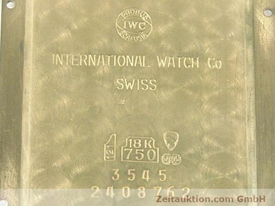 IWC NOVECENTO OR 18 CT AUTOMATIQUE KAL. 3206 [140369]