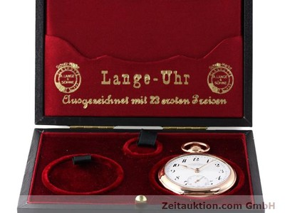 A. LANGE & SÖHNE ALS TASCHENUHR 14 CT RED GOLD MANUAL WINDING [140370]