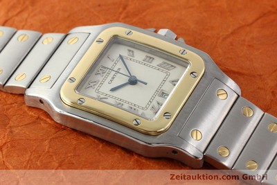 CARTIER SANTOS STEEL / GOLD QUARTZ [140383]