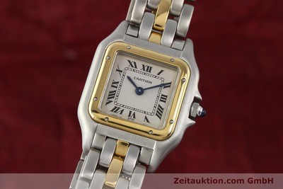 Cartier Panthere Stahl / Gold Quarz [140440]