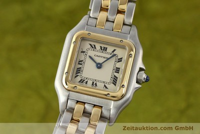 Cartier Panthere Stahl/Gold Quarz [140494]