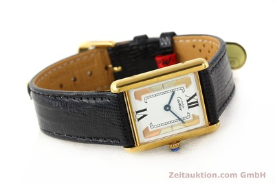 CARTIER TANK SILVER-GILT QUARTZ [140525]