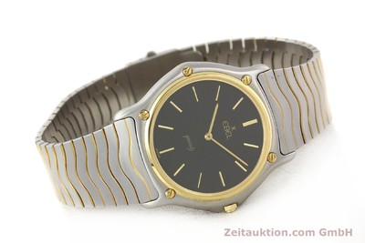 EBEL CLASSIC WAVE STEEL / GOLD QUARTZ VINTAGE [140530]