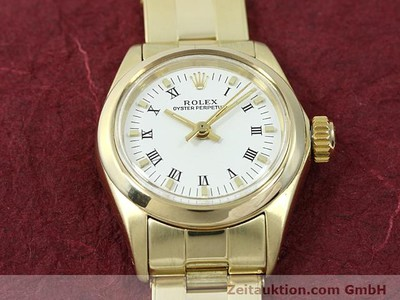 ROLEX OYSTER PERPETUAL 14 CT YELLOW GOLD AUTOMATIC KAL. 2030 [140548]