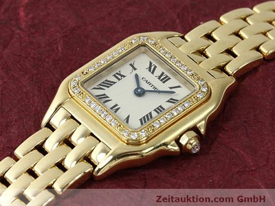 CARTIER PANTHERE 18 CT GOLD QUARTZ KAL. 157 [140550]