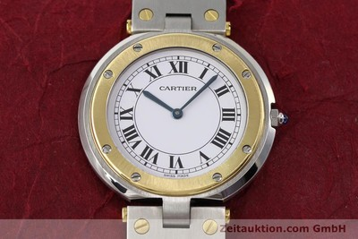 CARTIER SANTOS RONDE STEEL / GOLD QUARTZ [140559]
