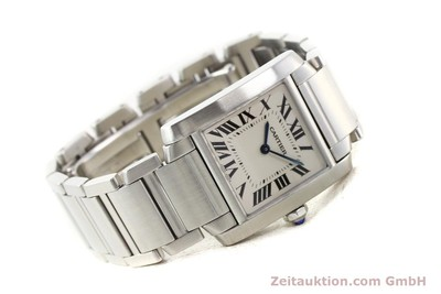CARTIER TANK STEEL QUARTZ [140576]
