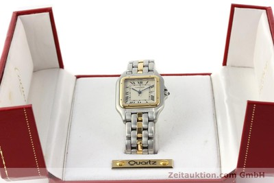 CARTIER PANTHERE STEEL / GOLD QUARTZ [140609]