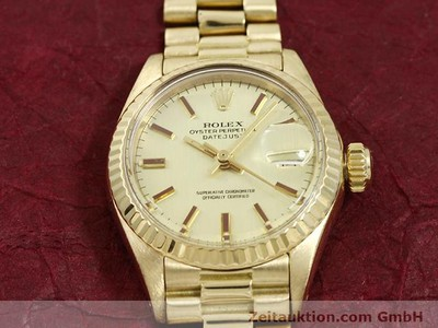 ROLEX LADY DATEJUST 18 CT GOLD AUTOMATIC KAL. 2030 [140685]