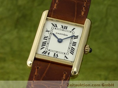 CARTIER TANK 18 CT GOLD QUARTZ KAL. 157.06 [140749]