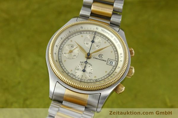 CHRONOSWISS PACIFIC STEEL / GOLD AUTOMATIC KAL. VAL 7750 7514  [140784]