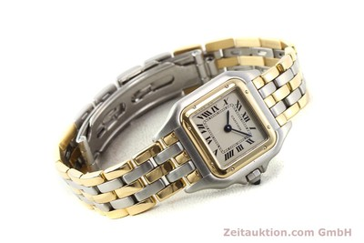 CARTIER PANTHERE ACIER / OR QUARTZ [140789]