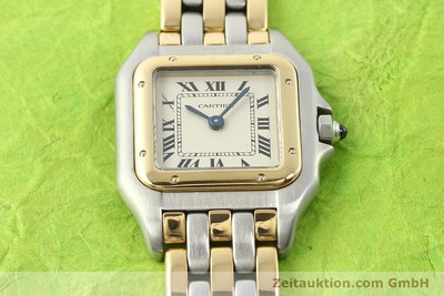 CARTIER PANTHERE STEEL / GOLD QUARTZ [140789]