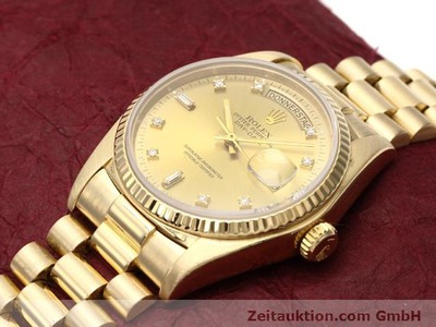 ROLEX DATEJUST 18 CT GOLD AUTOMATIC KAL. 3055 [140815]