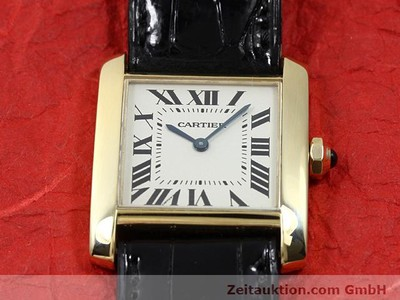 CARTIER TANK 18 CT GOLD QUARTZ KAL. 157.06 [140820]