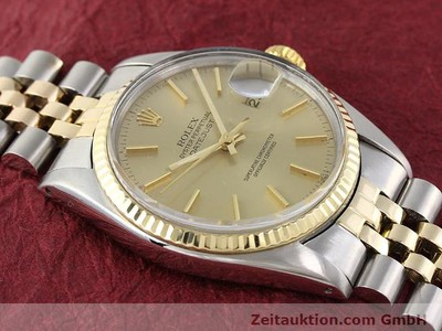 ROLEX DATEJUST ACIER / OR AUTOMATIQUE KAL. 3035 [140905]