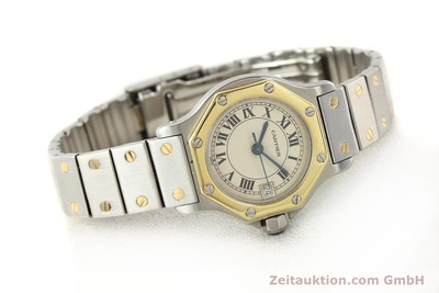 CARTIER SANTOS STEEL / GOLD QUARTZ [140930]