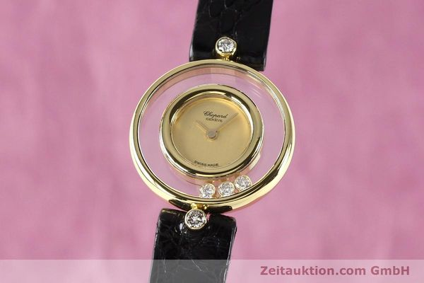 CHOPARD HAPPY DIAMONDS 18 CT GOLD QUARTZ KAL. ETA 201001 [140972]