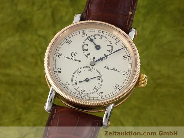 CHRONOSWISS REGULATEUR ACIER REMONTAGE MANUEL KAL. U6376 [140989]
