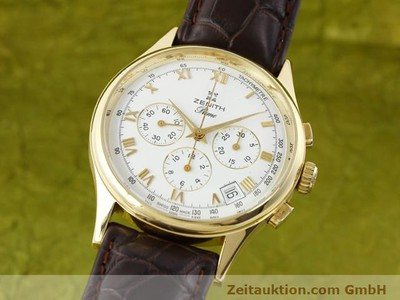 ZENITH PRIME CHRONOGRAPH 18 CT GOLD MANUAL WINDING KAL. 420 [141078]