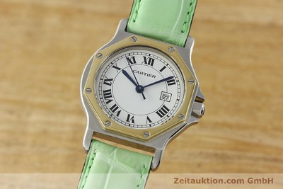 CARTIER SANTOS STEEL / GOLD AUTOMATIC KAL. ETA 2671 [141097]