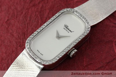 CHOPARD LADY 18K (0,750) WEISS GOLD DAMENUHR DIAMANTEN KARRÉE VP: 19750,- E [141150]