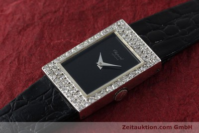 CHOPARD LADY 18K (0,750) WEISS GOLD DAMENUHR DIAMANTEN KARRÉE VP: 19750,- EURO [141179]