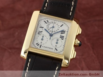 CARTIER TANK CHRONOGRAPH 18 CT GOLD QUARTZ KAL. 212P VINTAGE [141187]