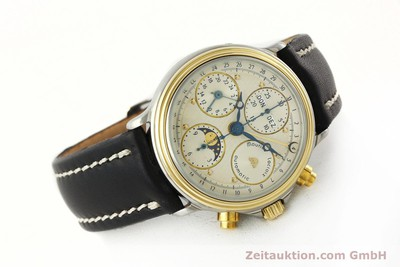 MAURICE LACROIX PHASE DE LUNE CHRONOGRAPH STEEL / GOLD AUTOMATIC KAL. VAL 7751 [141240]