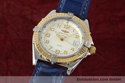BREITLING LADY WINGS COCKPIT DAMENUHR GOLD / STAHL D67050 VP: 3890,- EURO [141259]