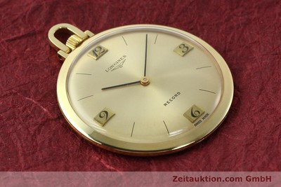 LONGINES TASCHENUHR OR 18 CT REMONTAGE MANUEL KAL. RECORD 666 [141306]