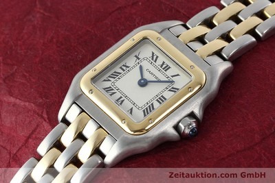 CARTIER LADY PANTHERE GOLD / STAHL DAMENUHR KARRÉE VP: 4180,- EURO [141333]