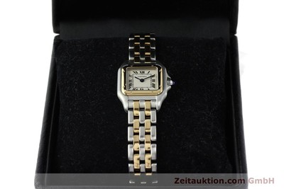 CARTIER PANTHERE STEEL / GOLD QUARTZ KAL. 157 [141333]