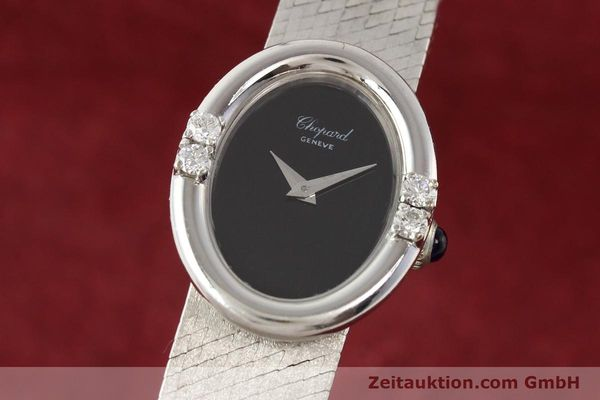 CHOPARD LADY 18K (0,750) WEISS GOLD DAMENUHR DIAMANTEN HANDAUFZUG VP: 19750,- Euro [141355]