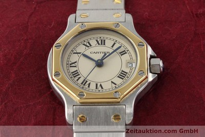 CARTIER SANTOS STEEL / GOLD QUARTZ [141360]