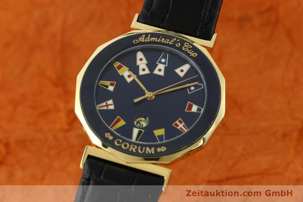 CORUM ADMIRALS CUP GILT STEEL QUARTZ KAL. 1482 ETA 256111 LP: 3450EUR [141481]