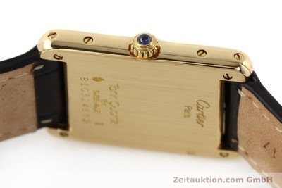CARTIER TANK 18 CT GOLD QUARTZ KAL. 81 [141501]