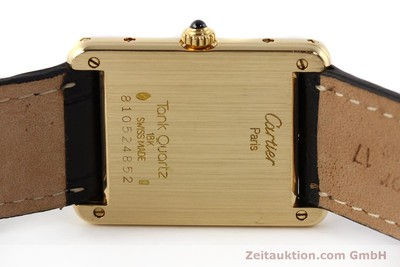 CARTIER TANK ORO 18 CT QUARZO KAL. 81 [141501]