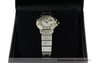 CARTIER SANTOS STEEL / GOLD QUARTZ [141514]