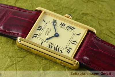 CARTIER TANK SILVER-GILT QUARTZ [141521]