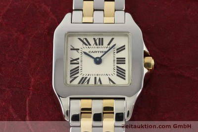 Cartier Santos Stahl / Gold Quarz [141537]
