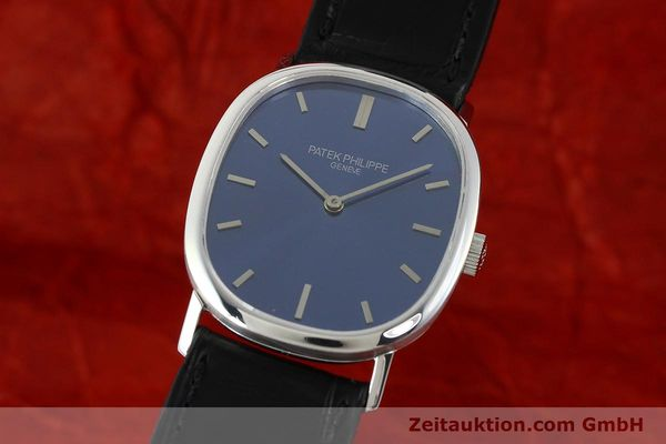 PATEK PHILIPPE 18K WEISS GOLD ELLIPSE DÓR REF 3548 HERREN MEDIUM VP: 21490,- [141549]