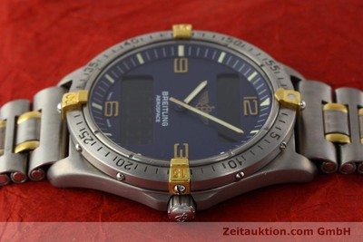 BREITLING AEROSPACE CHRONOGRAPHE TITANE / OR QUARTZ KAL. B56 ETA 988332 [141638]