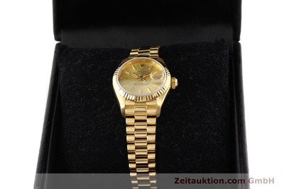 ROLEX LADY DATEJUST 18 CT GOLD AUTOMATIC KAL. 2135 [141665]